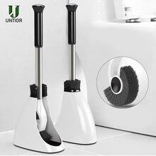 UNTIOR нержавеющая сталь ручка держатель для туалетной щетки напольные аксессуары для ванной комнаты с основанием чистящий инструмент набор туалетной щетки