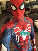 3D Printed Insomniac Game Spider Man Costume PS4 Insomniac Spiderman Costume With Spider Man Lenses Zentai Superhero Bodysuit