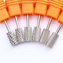 Tungsten Carbide Nail Drill Bit Muti-size Silver Manicure Nail Art Tool Nail Drill Accessories Nail File