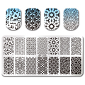 BORN PRETTY 12*6cm Rectangle Manicure Stamping Template Vines Design Nail Art Stamping Plate BP-L049