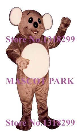 mascot Happy Brown Aussie Koala Mascot Adult Costume Cartoon Zoo Koala Anime Cosplay Mascotte Fancy Dress Carnival Costumes Kits