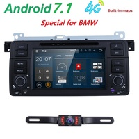 7'HD 1 din android 7.1 car radio car DVD player for bmw e46 318 320 325 330 335 M3 1998 2006 gps navigation WIFI RDS DAB+ 4G