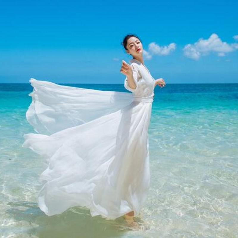 Automne Makuluya Robes Vintage Pendule Blanc Femmes Qw Printemps D'été Volants Fée Vacances red Grand New Bohême White Rouge Fées wYZqPrw