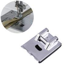 1pcs Double Welt Overlock Walking Feet for Home Multifunction Sewing Machine New Metal Rope Inlay Presser Foot
