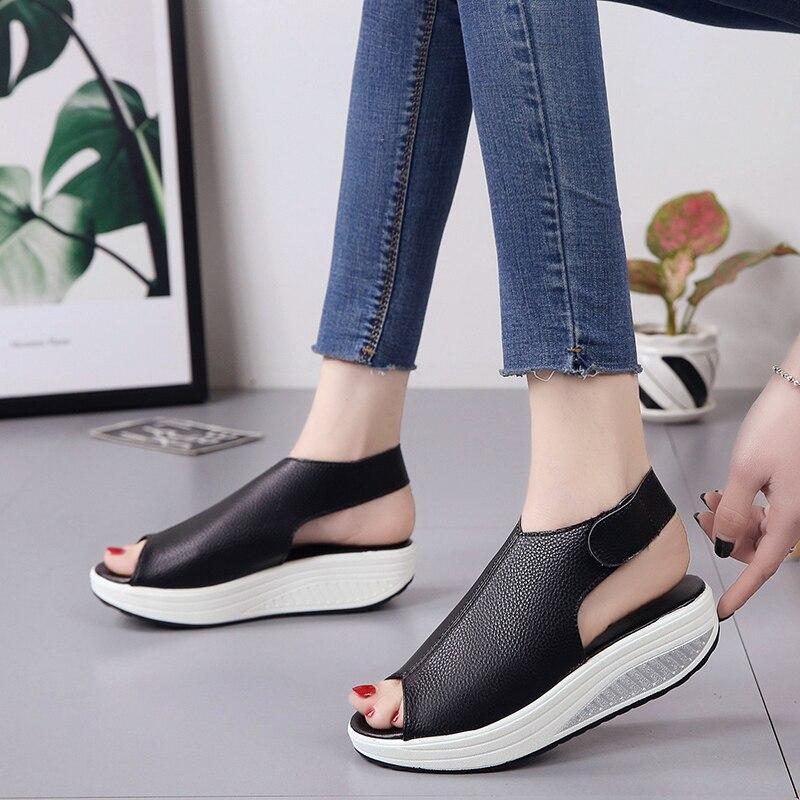 Bomlight Summer Women Wedges Sandals Women Peep Toe Creepers Woman Shoes Platform Sandals Woman Hook Loops Sandalias Mujer 35-43 3