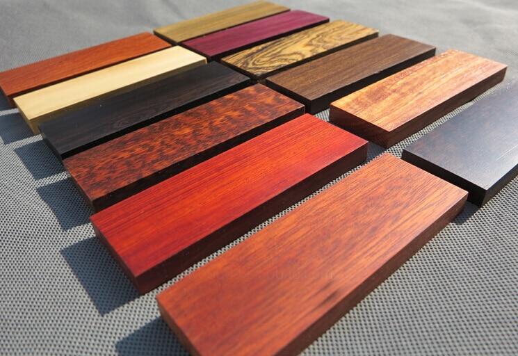 120 * 40 * 10MM DIY noad käepidemed materjal eebenipuu roosipuu - Käsitööriistad - Foto 1
