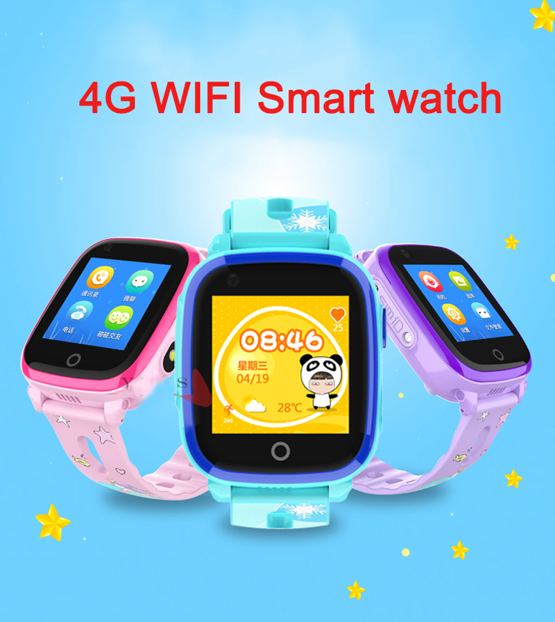 4G Camera GPS Watches WI-FI Kids Children Students Smart Wristwatch Sim Card/SOS/Video Call/ Monitor Tracker Location Waterproof 1