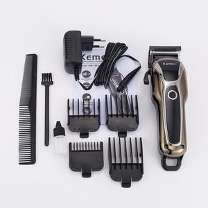 Image 5 - 100 240V מקצועי גוזז שיער למספרה נטענת שיער גוזם שיער גילוח מכונה חשמלי שיער חיתוך זקן לחתוך