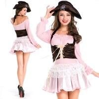Rolecos costumi pirata set fancy dress costumi per le donne cosplay feminino