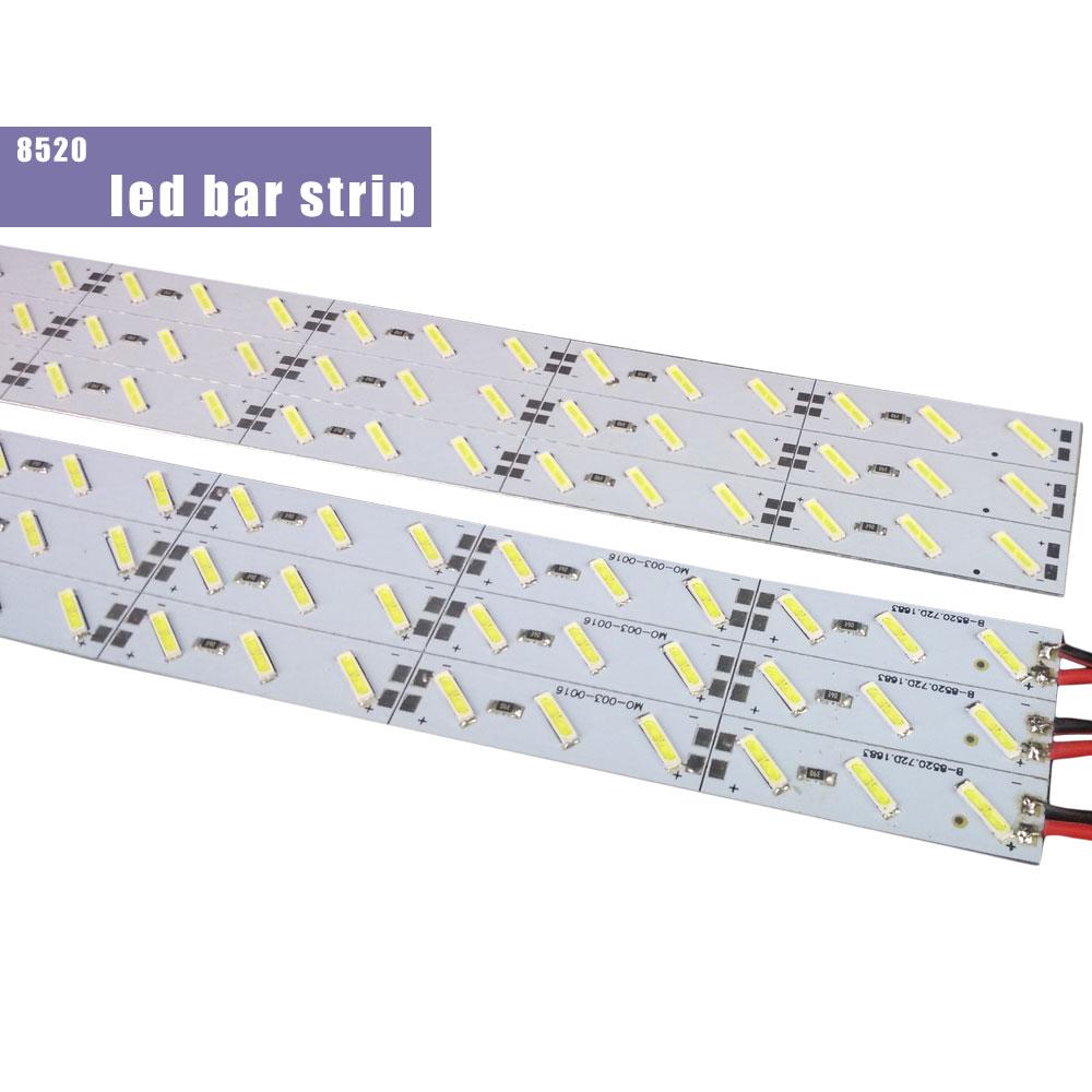 Image 5 - 10pcs/Lot  leds 0.5m LED bar light smd 5050 5630 7020 8520 4014 12V led rigid strip white warm cold RGB  under cabinet kitchen-in LED Bar Lights from Lights & Lighting