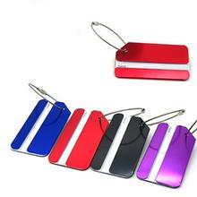 1 sztuk torba na bagaż tagi adres uchwyt bezpieczny identyfikator etykiety podróży aluminiowy Metal nowy żółty czarny czerwony niebieski tanie tanio G1G60 wqh ISKYBOB