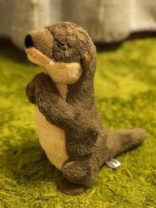 """Image 5 - 18 ס""""מ עומד נהר וטרה חיים אמיתיים גודל וטרה חיות פרווה צעצועים צעצועים בפלאש מיני למתנות יום הולדת לילדים"""
