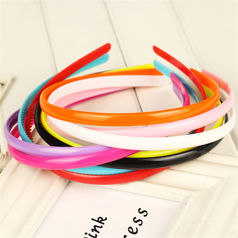 Girl's Accessories Liberal 10 Pcs New Fashion Hair Bands Girls Plastic Headbands Fine Hair Hoop Lady Candy Color Diy Tools Rainbow Hair Accessory Wholesale
