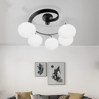 Contemporary ceiling light and contracting sweet bedroom lamp creative personality children art room restaurant led lamps
