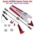 Para syma s107 s107g rc helicóptero piezas de repuesto (cuchillas, eje, cola decoraciones, cola, Barra de equilibrio, Juego de engranajes, Conecte la Hebilla)