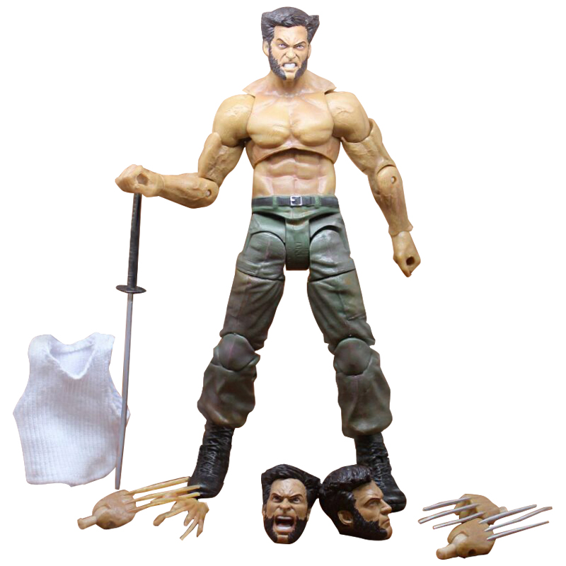 Marvel Legends Series X-Men Wolverine Claws Logan Action Figure Anime Doll Toy Collectible Model Toys for Children Gift 7 marvel legends series x men wolverine claws logan action figure anime doll toy collectible model toys for children gift 18cm