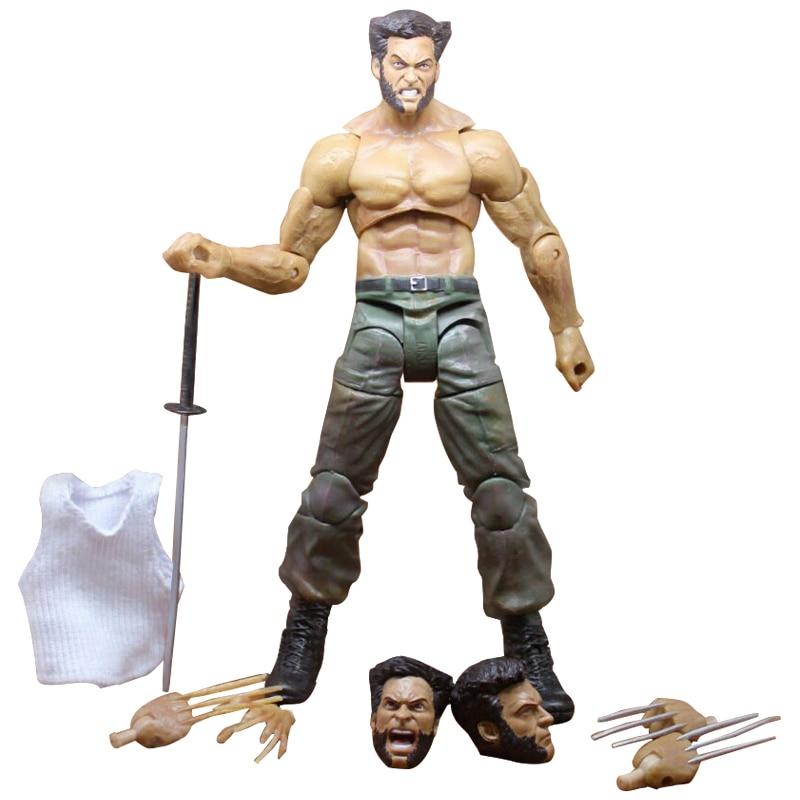 Marvel Legends Series X-Men Wolverine Artigli Logan Action Figure Anime Bambola Giocattolo Da Collezione Modello Giocattoli per I Bambini Regalo