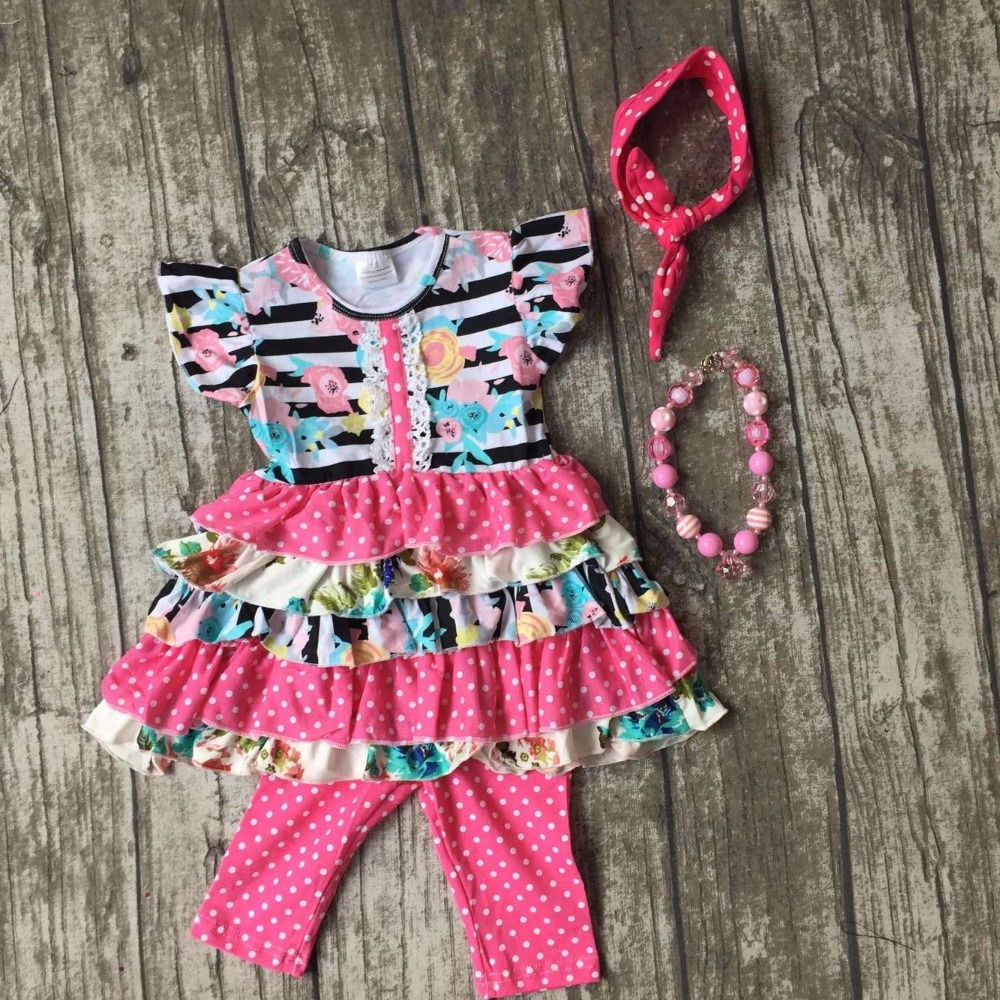 capris summer baby girls ruffles floral sleeveless clothing cotton boutique hot pink outfits striped with matching accessories lole капри lsw1349 lively capris xs blue corn