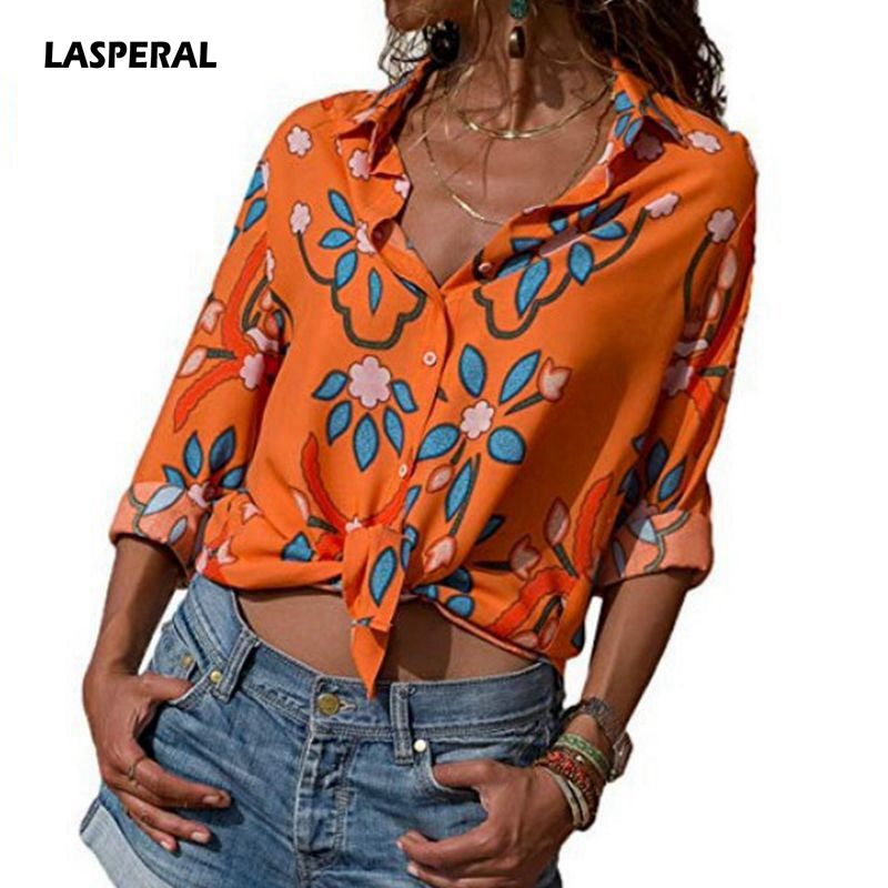 LASPERAL Women   Blouse     Shirt   Long Sleeve Korean Fashion New Arrival 2019 Autumn Office Ladies   Blouses   Work Print Top Female Blusa