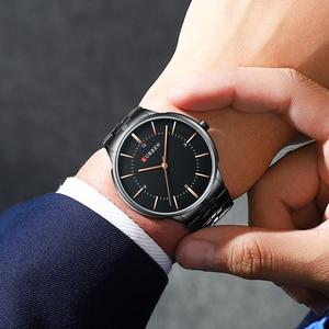 Image 5 - 2019 Top Brand CURREN Luxury Quartz Watches for Men Wrist Watch Classic Black Stainless Steel Strap Mens Watch Waterproof 30M