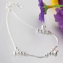 12PCS Women Fashion 3Pcs Bells 12 Beads Luxury Chain Ankle Bracelet Beach Anklet