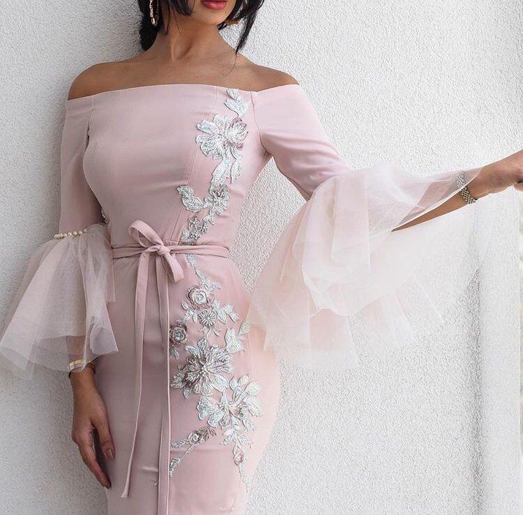 SuperKimJo 2018 Розовый Русалка Вечерние платья Длинные Арабский Аппликация из бисера Вечернее платье Праздничное платье Longo