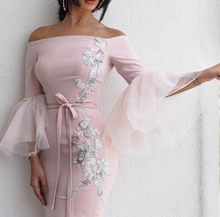 SuperKimJo 2018 Pink Mermaid Evening Dresses Long Arabic Applique Beaded Gown Vestido De Festa Longo