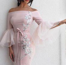 SuperKimJo 2018 Rosa Sereia Vestidos Longos Árabe Applique Frisado Vestido de Noite Vestido De Festa Longo