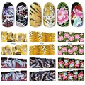 100% Brand New Hot Sale Fashion Nail Art Full Cover Water Stickers Beauty Nail Tool Freeshipping