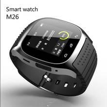 Smartwatch M26 rwatch Wasserdichte Bluetooth Reloj M26 Mit Musik-player Podometro Montre verbindungsstück Für Android Telefon PK U8