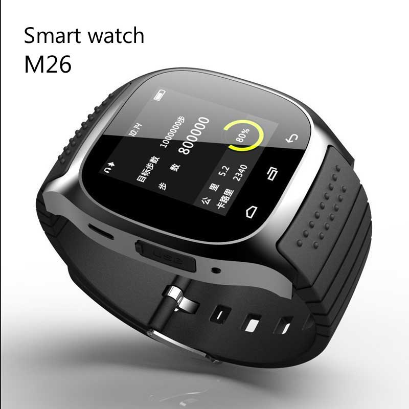 Smartwatch M26 rwatch Waterproof Bluetooth Reloj M26 With Music Player Podometro Montre connecter For Android Phone