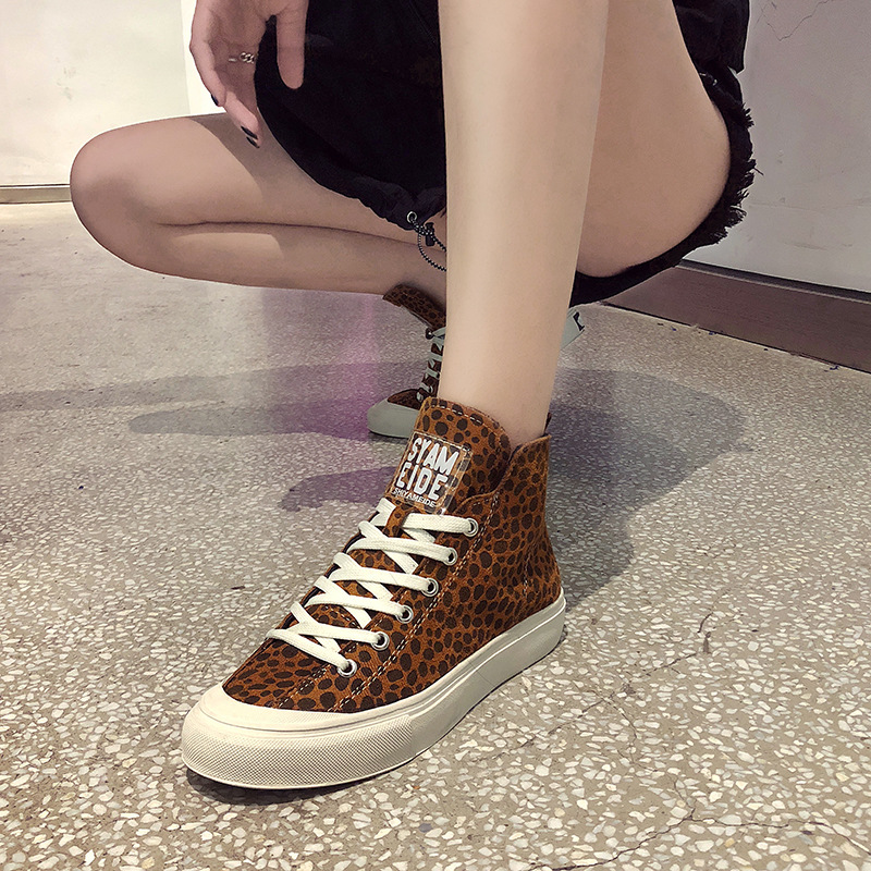 GYP Women's shoes 2019 spring new women's casual canvas sports shoes Korean students print running shoes tennis women MA 46