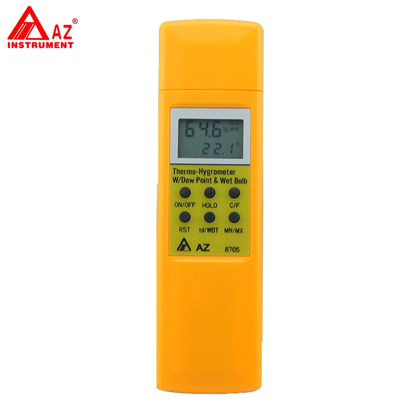 AZ-8705 Handheld Hygro-Thermometer Dew Point Wet Bulb Temperature Meter ht 86 digital thermometer hygrometer wet bulb dew point temperature meter o0s0