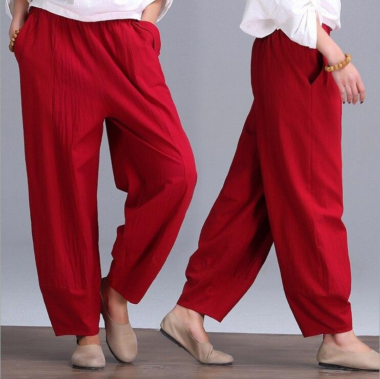 gentle house The 2016 broad leg leisure cotton linen pants