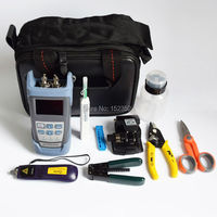 10 In 1 FTTH Fiber Optic Tool Kits With PON Power Meter VFL 10mw Fiber Cleaver