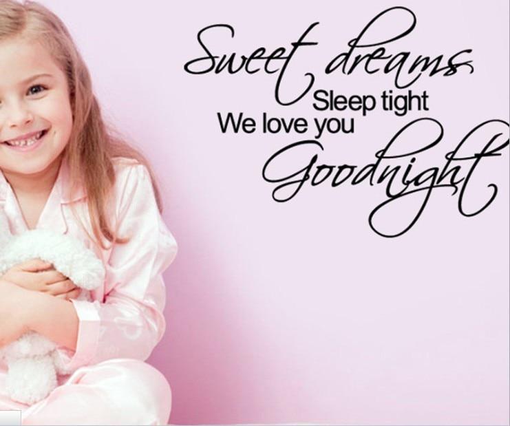 Sweet Dreams Sleep Tight Vinyl Wall Sticker Art Bedroom Sayings Popular