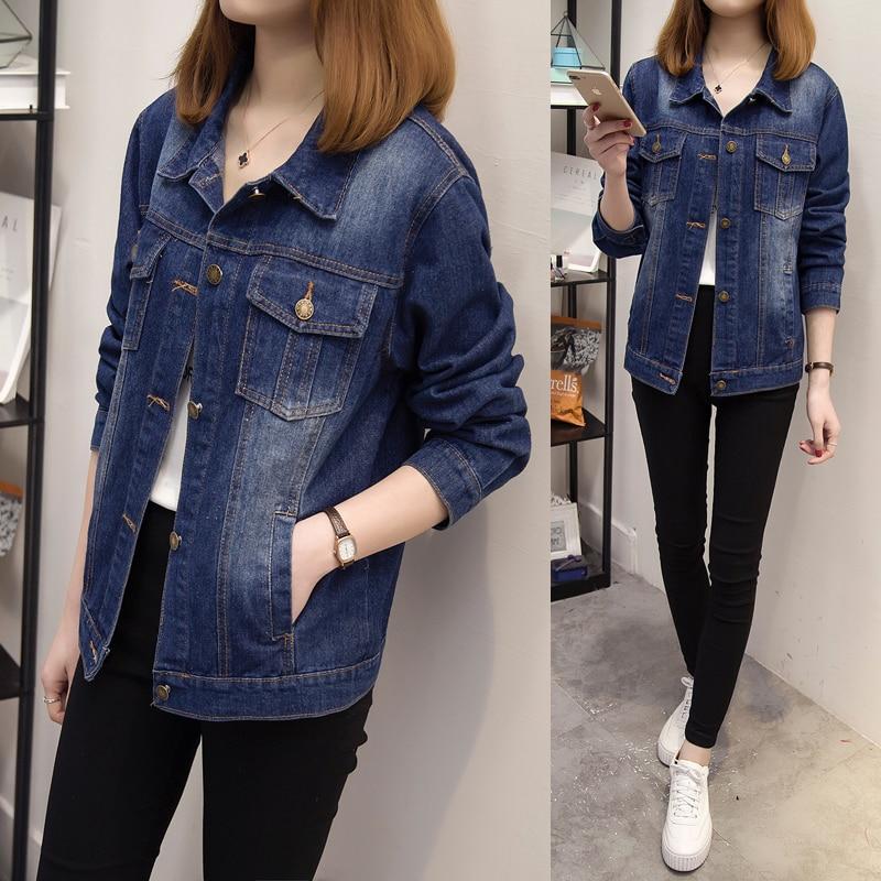 5xl plus big size coats women spring autumn summer style 2017 feminina fashion new thin jean