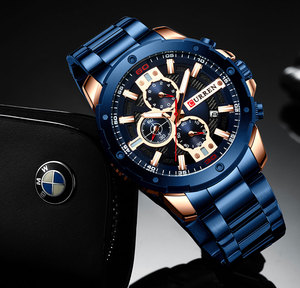Image 5 - Relogio Masculino גברים של שעונים CURREN למעלה יוקרה מותג לצפות Mens קוורץ נירוסטה שעון אופנה הכרונוגרף שעון גבר