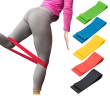 цена Exercise Fitness Yoga Resistance Bands Expander Equipment Fitness Gym Strength Training Loop Band Yoga Pilates Physical Therapy онлайн в 2017 году