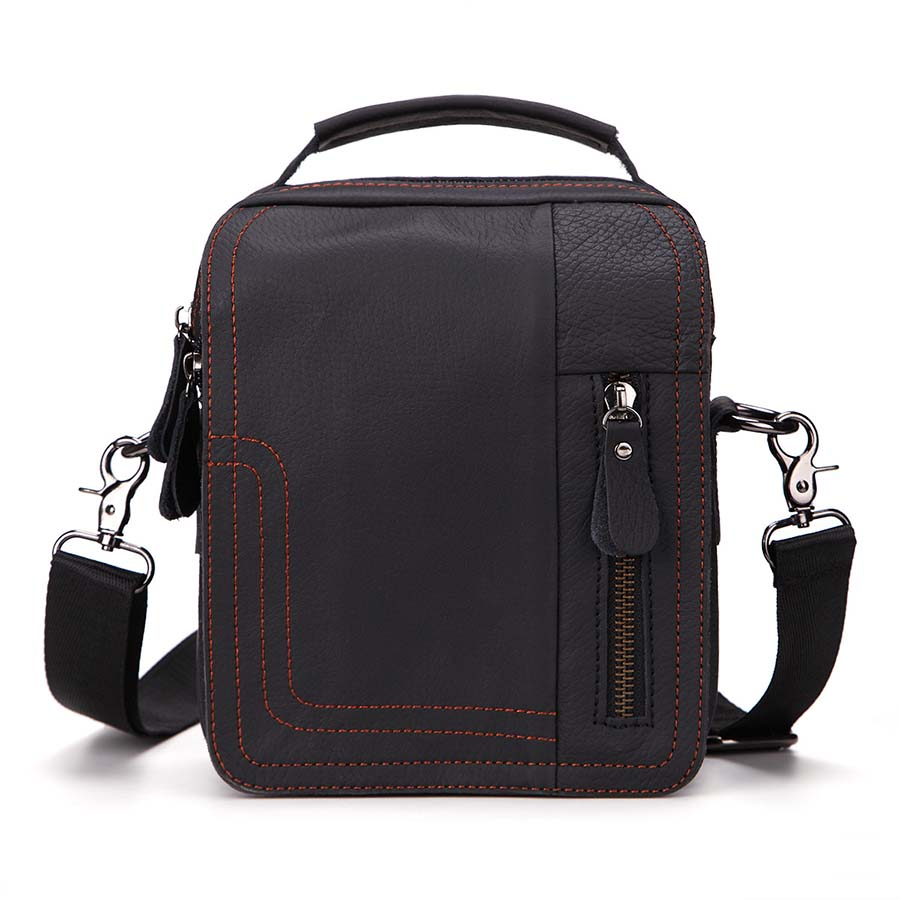 New Fashion Man Genuine Leather Messenger Bag Classical Male Cross Body Shoulder Casual Business Bags For Men Handbags 1755