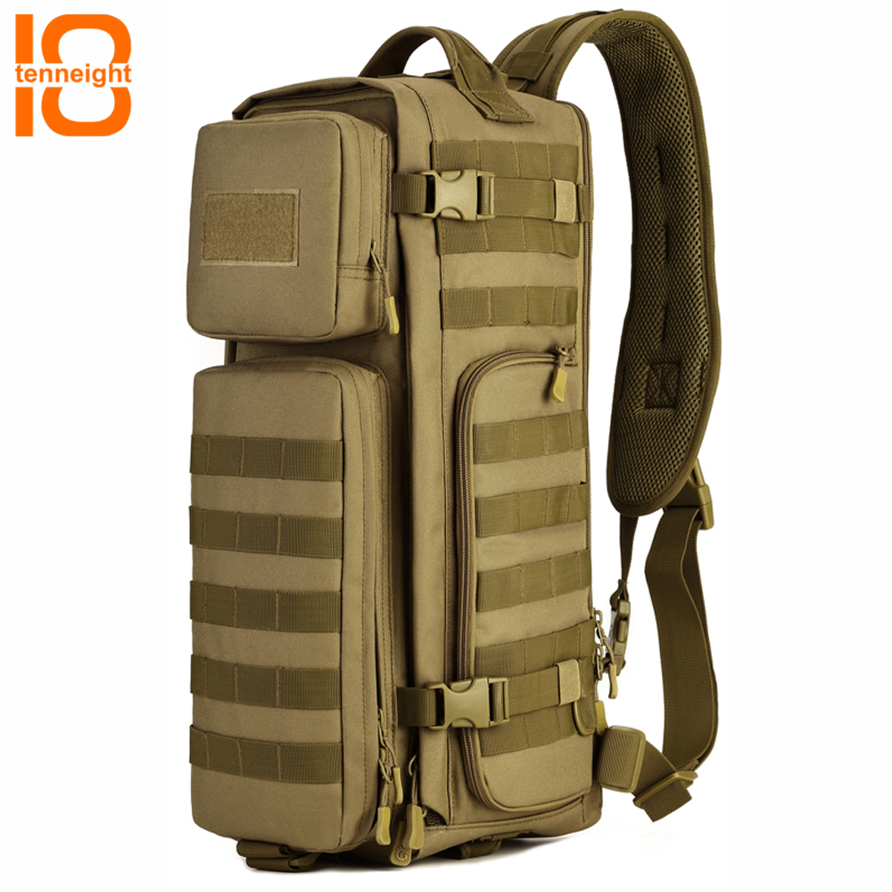 TENNEIGHT Outdoor Tactical Backpack Nylon Military airborne bag Men's Sports Climbing Camping Backpack hunting travel Backpack airborne pollen allergy