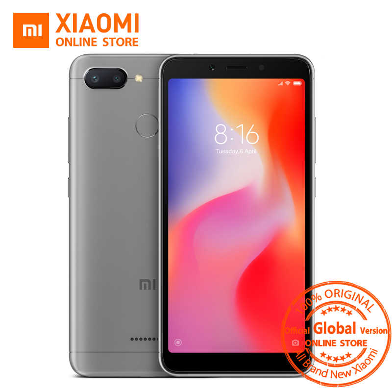 Глобальная версия Xiaomi Redmi 6, сяоми редми 6 3 Гб, 32 Гб, смартфон 5,45 ''Дисплей Helio P22 Octa Core 12MP + 5M Camera мобильный телефон