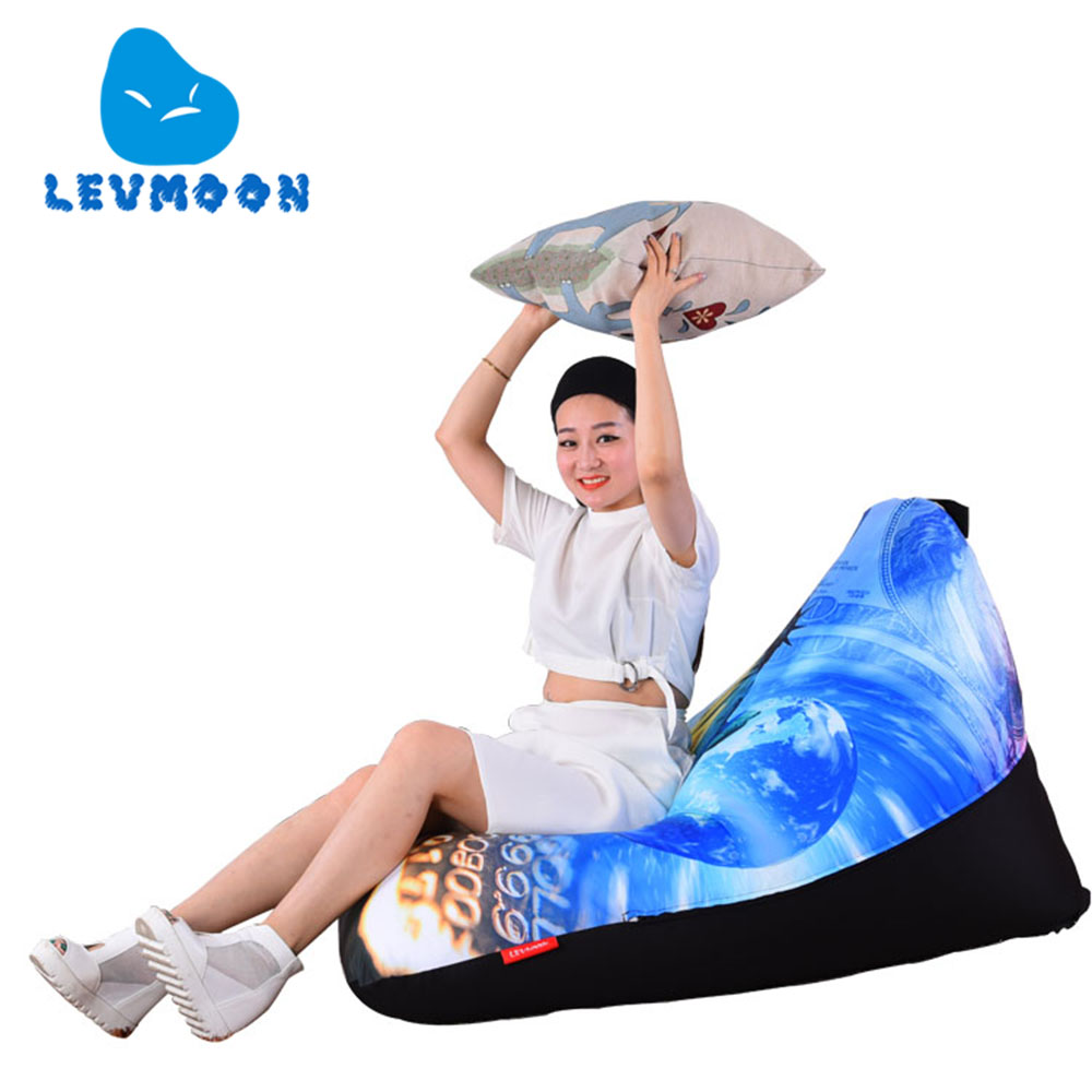 ФОТО LEVMOON Beanbag Sofa Chair Statue of Liberty Seat Zac Bean Bag Bed Cover Without Filling Indoor Beanbags