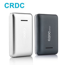 CRDC font b Slim b font 10000mAh Power Bank 18650 Dual USB PowerBank External Battery For