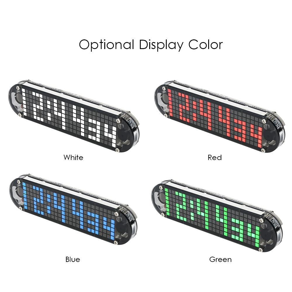 High Accuracy DIY Digital Dot Matrix LED Alarm Clock Kit with Transparent Case Temperature Date Time Display DS3231