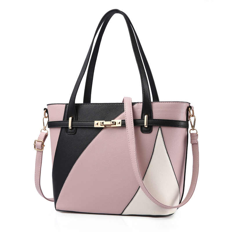 Grande saco de retalhos sacos de ombro bolsas femininas marcas famosas luxo bloqueio crossbody sacos para as mulheres 2018 moda sac a principal