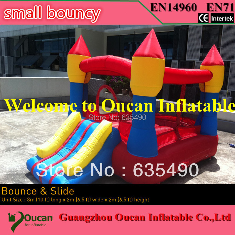 Inflatable Water Slide Repair Kit: PVC Tarpaulin Small Inflatable Bouncy House With Slide