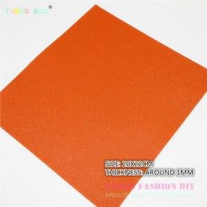 6 stücke-20x22 cm Hohe Qualität NEUE MIX STIL ORANGE farbe mischen PU leder set/synthetische leder künstliche leder