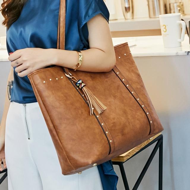 Rivet PU Leather Women Shoulder Bag 1