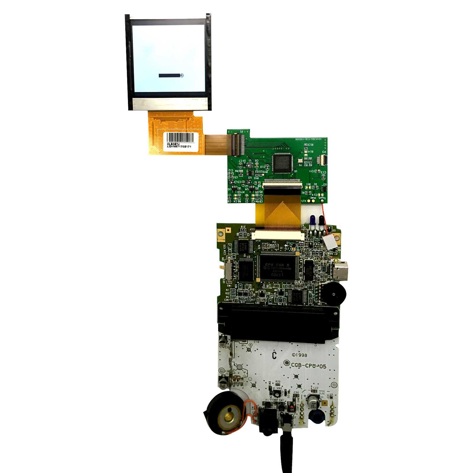 For GBC LCD Modification Kit High Light Screen LCD Modification Accessories Kit